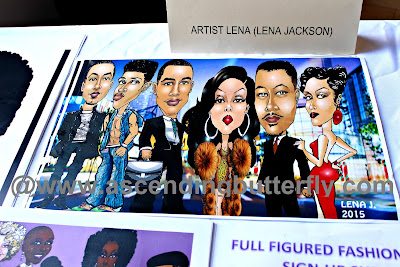 Artist Lena Jackson Cast of Empire Caricatures at #FFFWEEK Celebrate My Size Expo & Community Town Hall