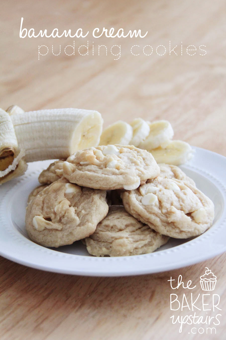 the baker upstairs: banana cream pudding cookies
