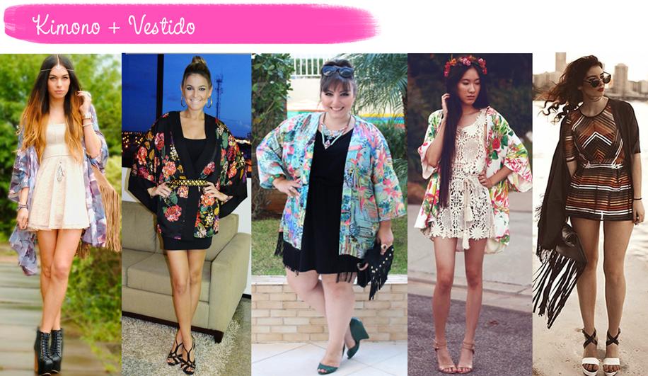 Como usar, Kimono, vestido, tendência