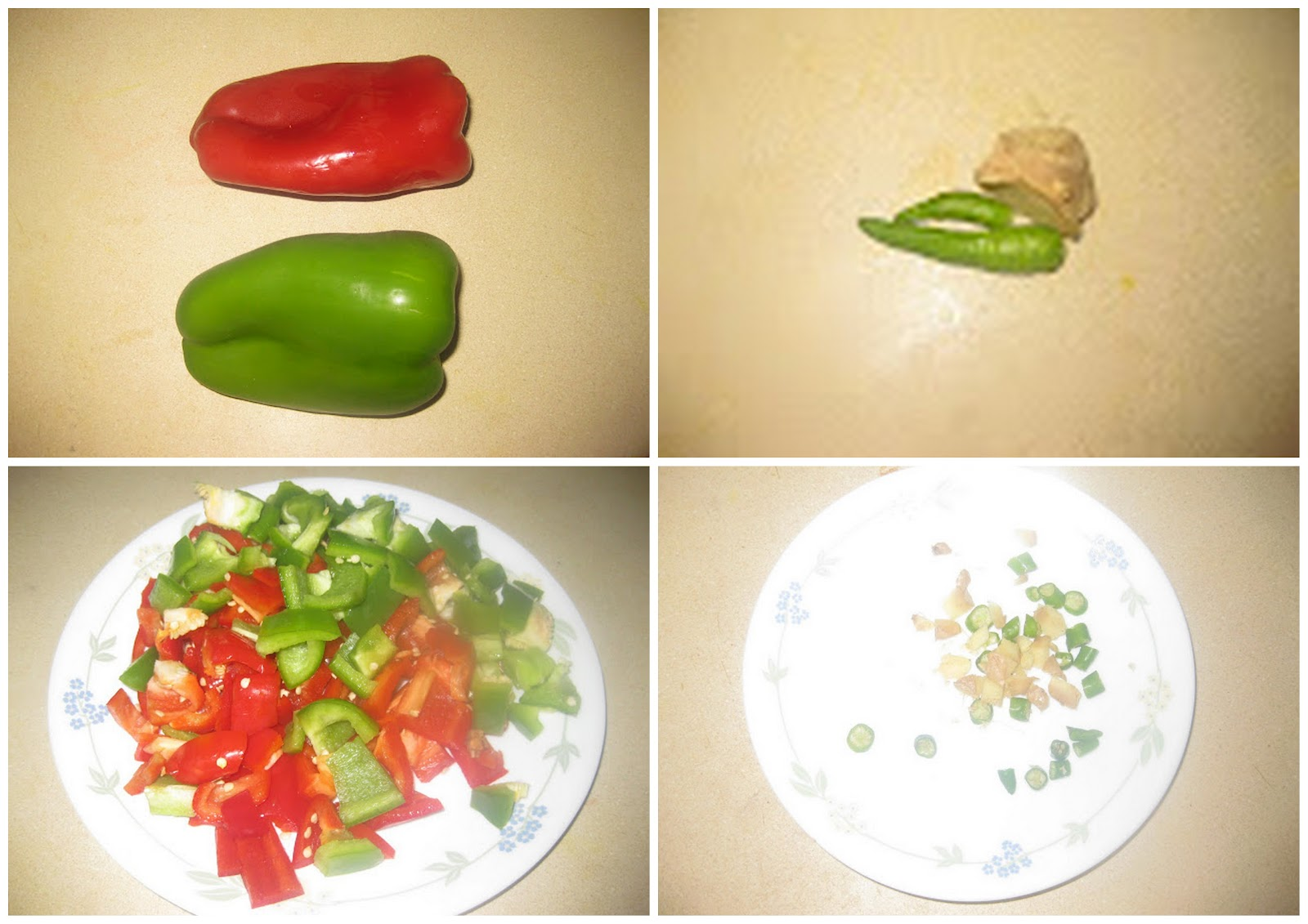 The recipe world capsicum or bell pepper chutney for M kitchen world chop wash