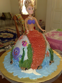 barbie/mermaid cake
