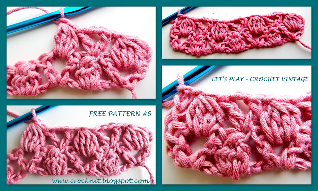 free crochet patterns, clusters, v-stitches, how to crochet,