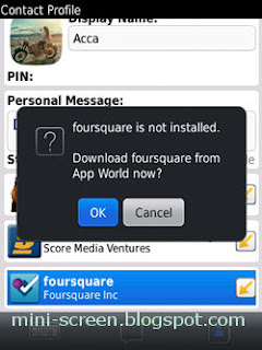 BBM 6 Connected to Check In Through Install Foursquare Mobile App