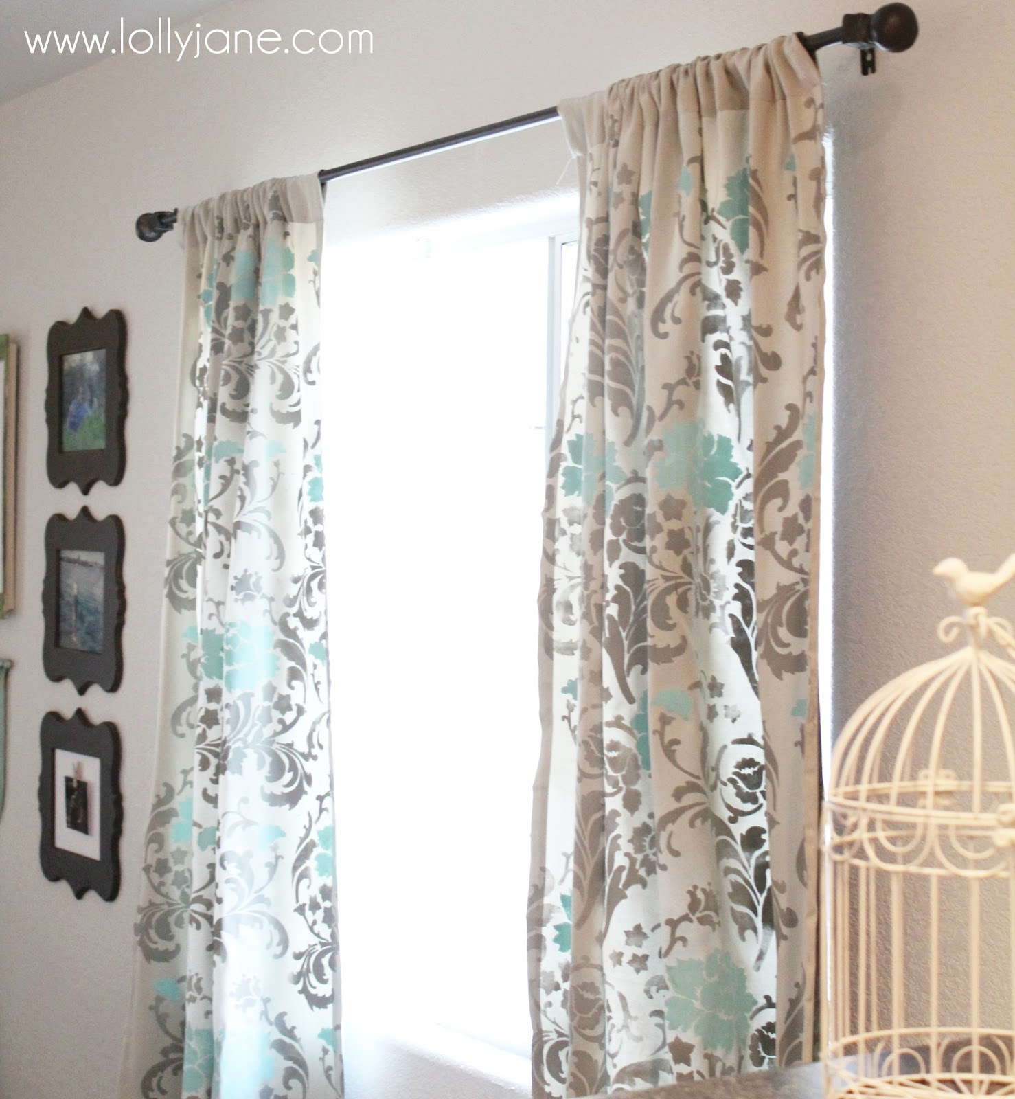 Someday Crafts Stenciled Curtains