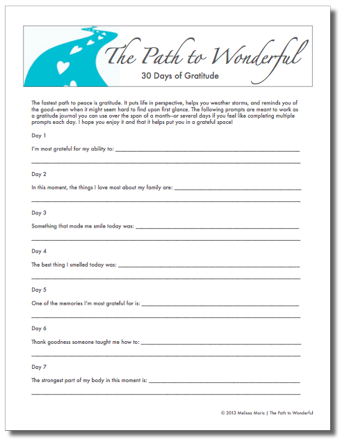 Gratitude worksheets for adults pdf
