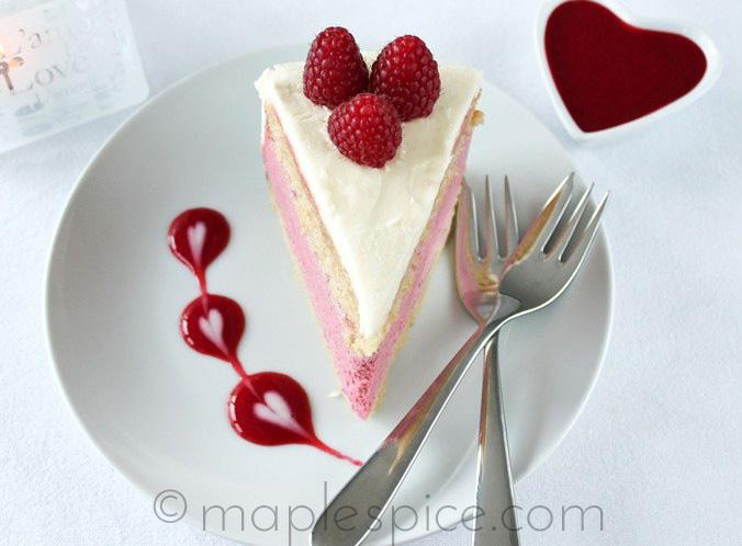Raspberry Chambord Cake Mousse