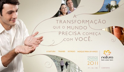 Natura abre vagas para Programa de Estágio 2012
