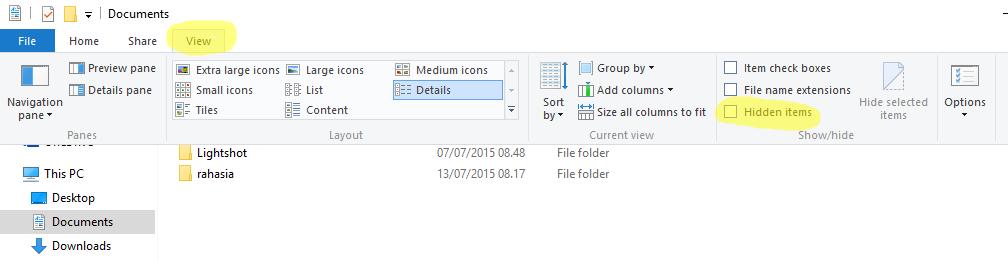 Cara Mudah Unhide File / Folder Di Windows 8