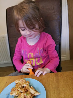 eldest eating pasta