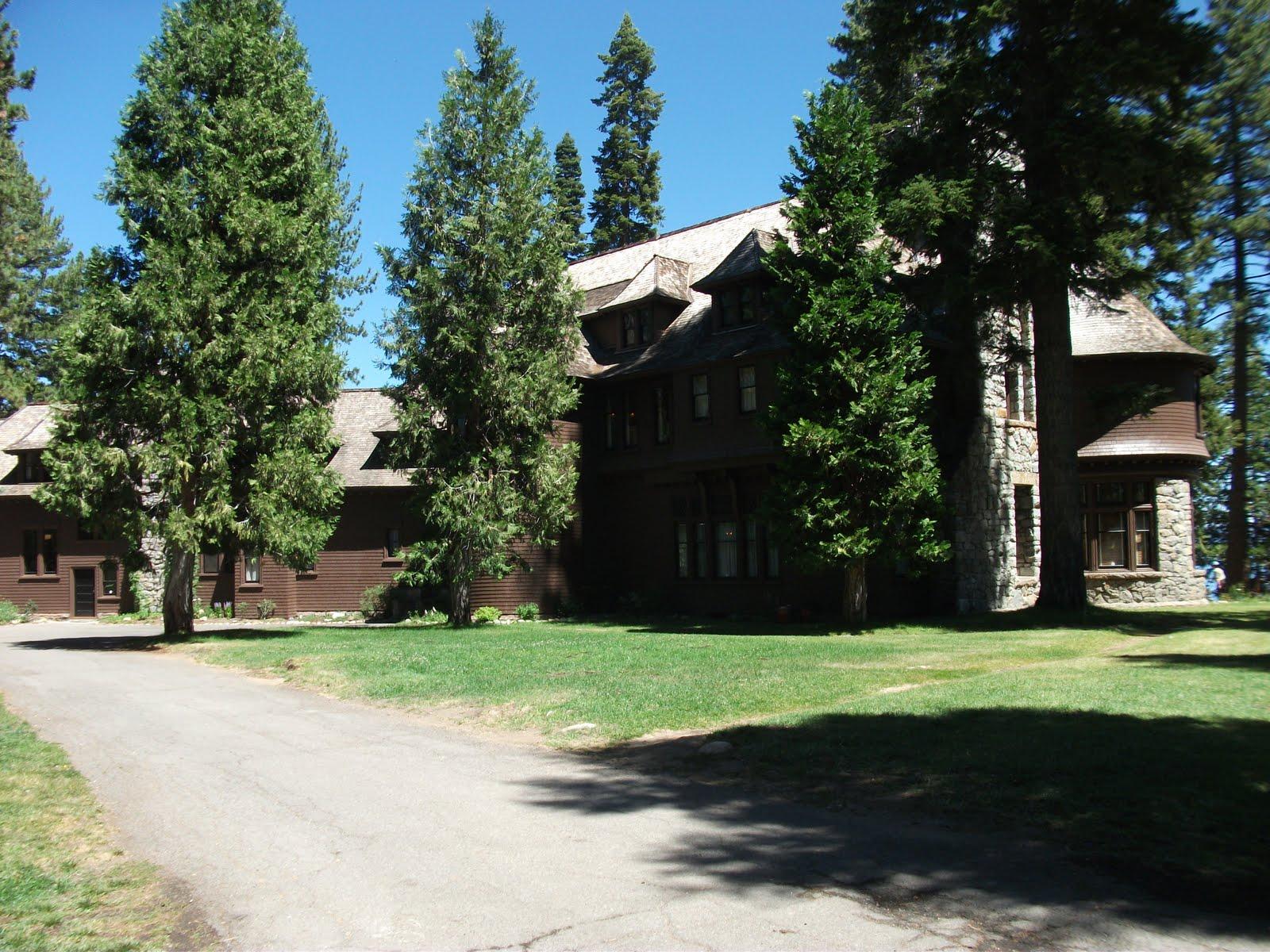 Hellman Ehrman Mansion Lake Tahoe And Log Cabin Quilt