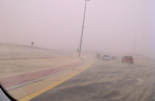 """Dubai_cyclone_rumor_sandy_road_image"""