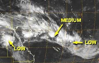 Unruhe im Südpazifik, Pazifik, aktuell, Satellitenbild Satellitenbilder, Januar, Februar, 2012, Australische Zyklonsaison,