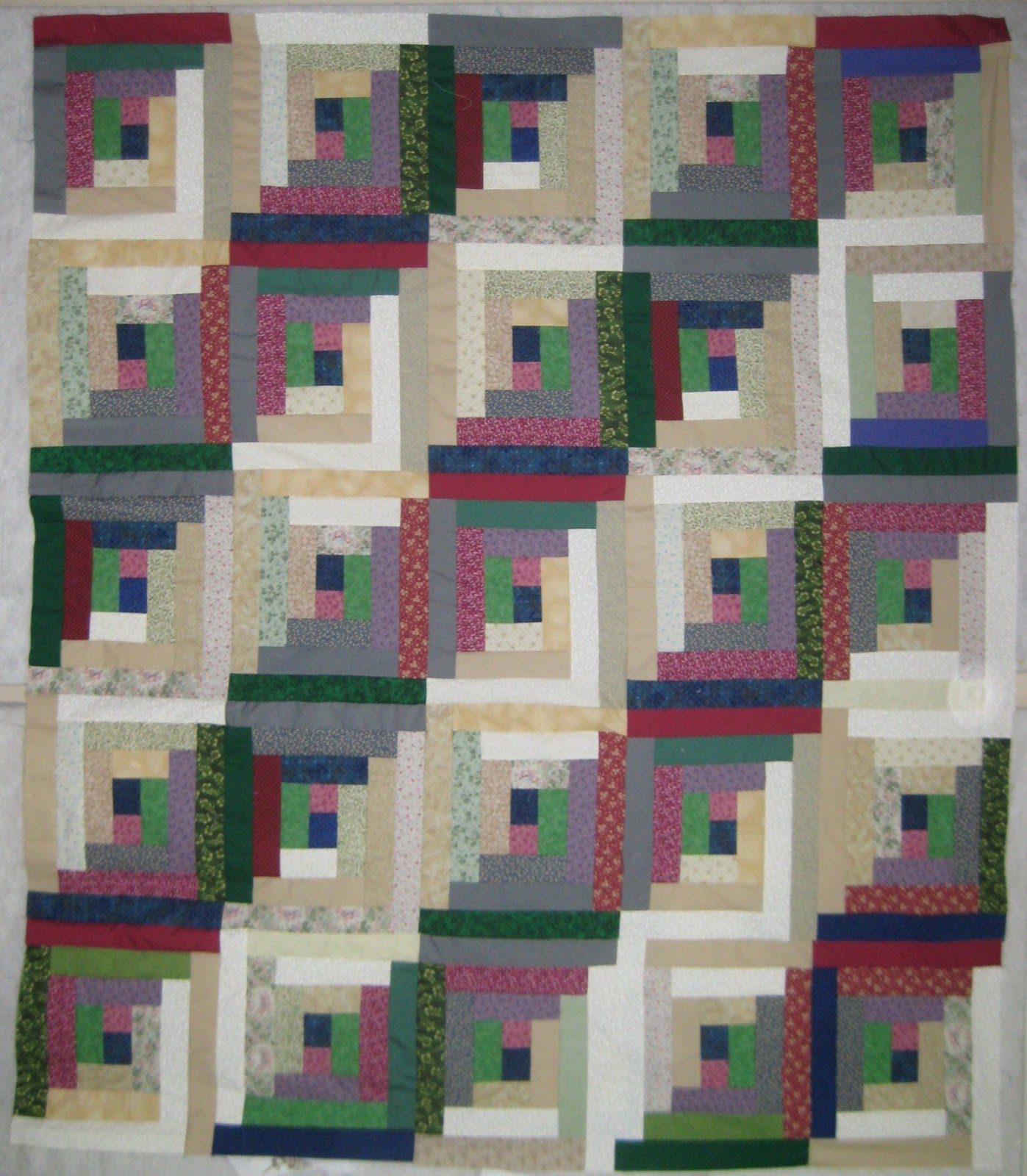 Mary Manson Quilts Log Cabin Quilt Top