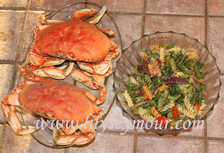 Crabs w/Warm Pasta Salad