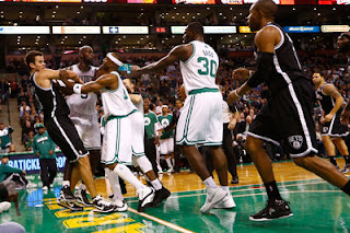 Rajon Rondo, Kris Humphries, Gerald Wallace, KG, Kevin Garnett, New Jersey Nets, Boston Celtics