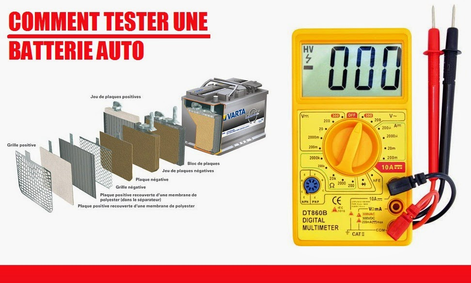 Tester batterie voiture amperage id e d 39 image de voiture for Tester un fusible sans multimetre