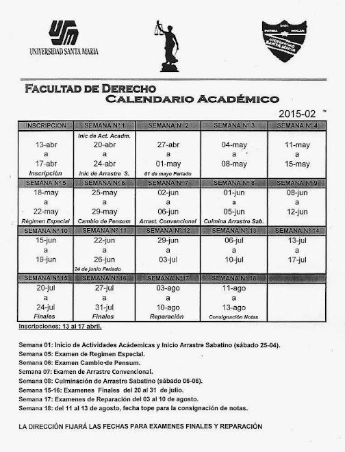 Calendario Académico 2015-02