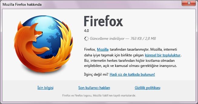 Firefox 4 hakkında penceresi