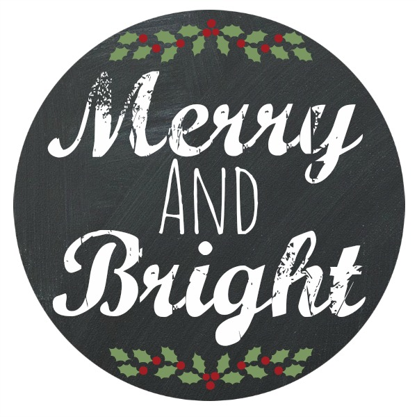 Merry and Bright Chalkboard Printable