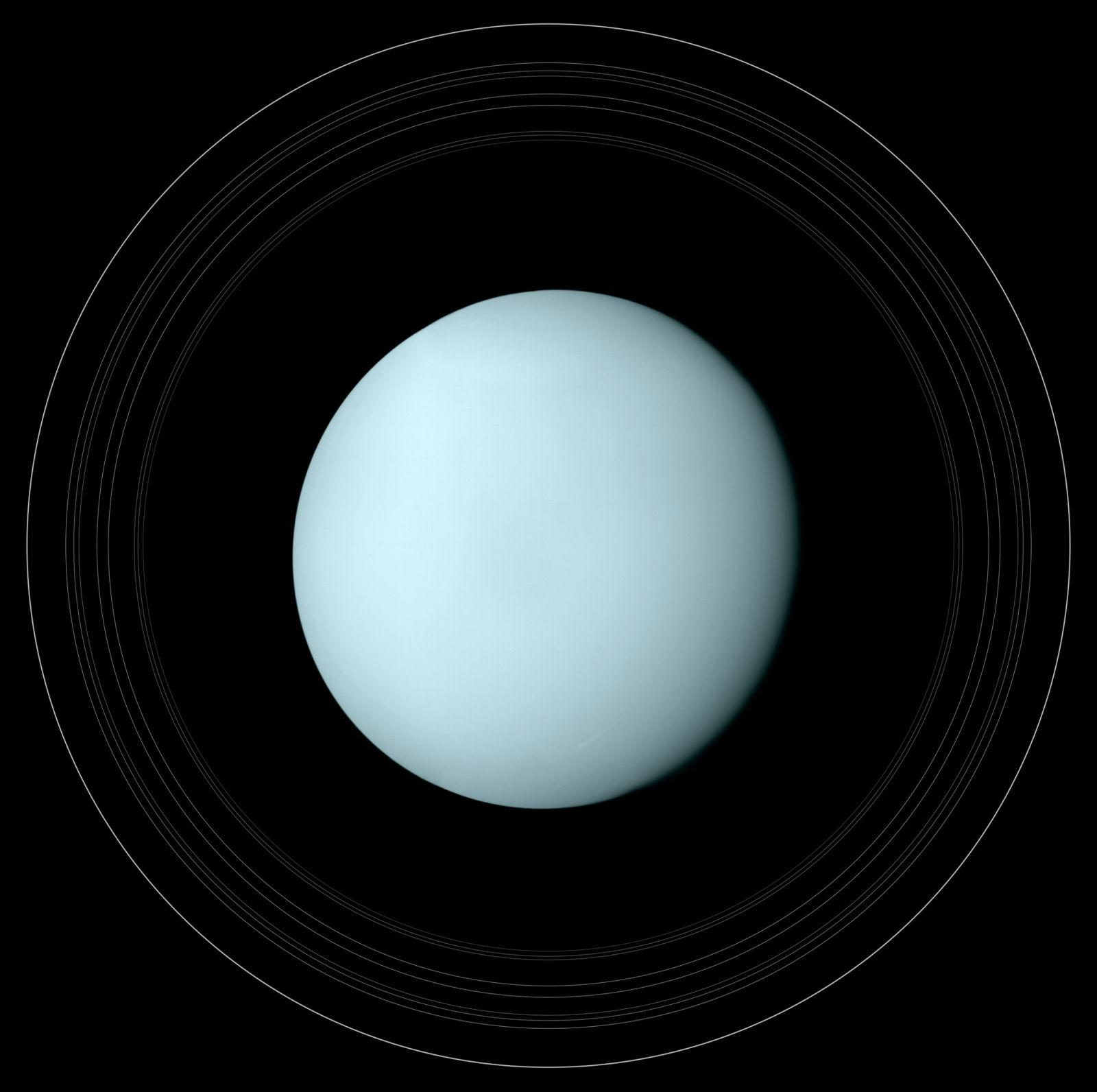 Planet Uranus Rings wallpaper background