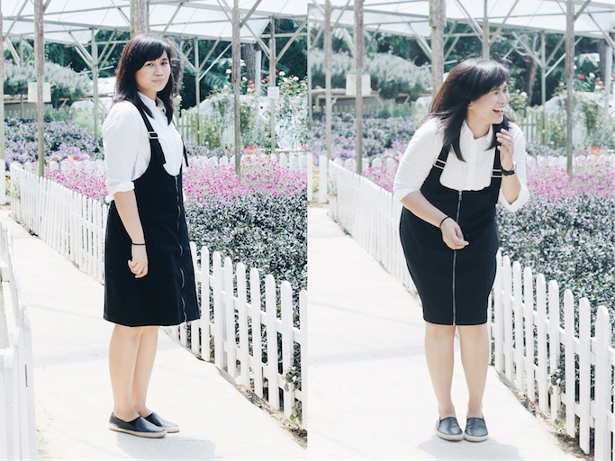 White Polo - Uniqlo | Black Jumper Dress - Forever 21 | Shoes - Steve Madden  | Photos - @paultheprguy. Sayang we had to leave Awana Hotel early for our  ...