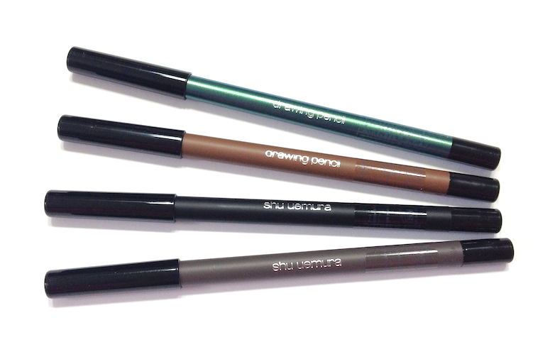 Shu Uemura Ready To Wear Palette (Pink Hues) and Drawing Pencils (M Black 01, M Grey 05, M Earthy Brown 82, ME Green 51)