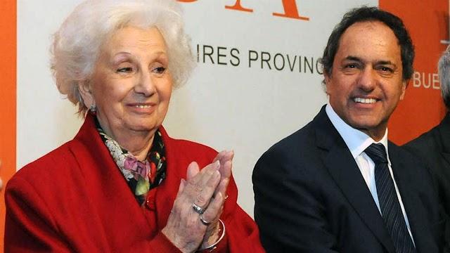 """Estela de Carlotto: """"Scioli es una transición a la espera de que vuelva Cristina Kirchner"""""""