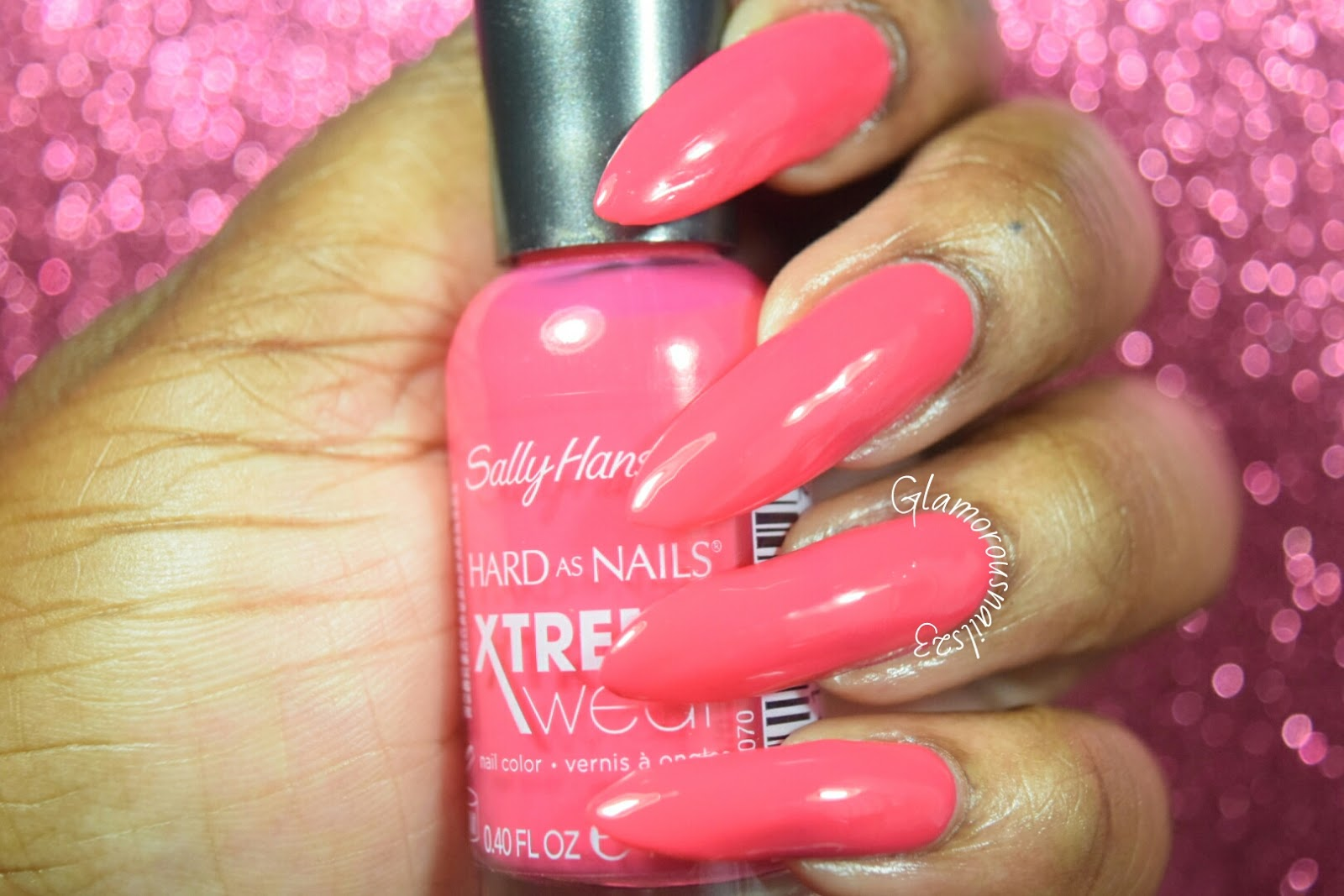Sally Hansen Xtreme Wear Pink Punk Swatches & Review - Glamorousnails23