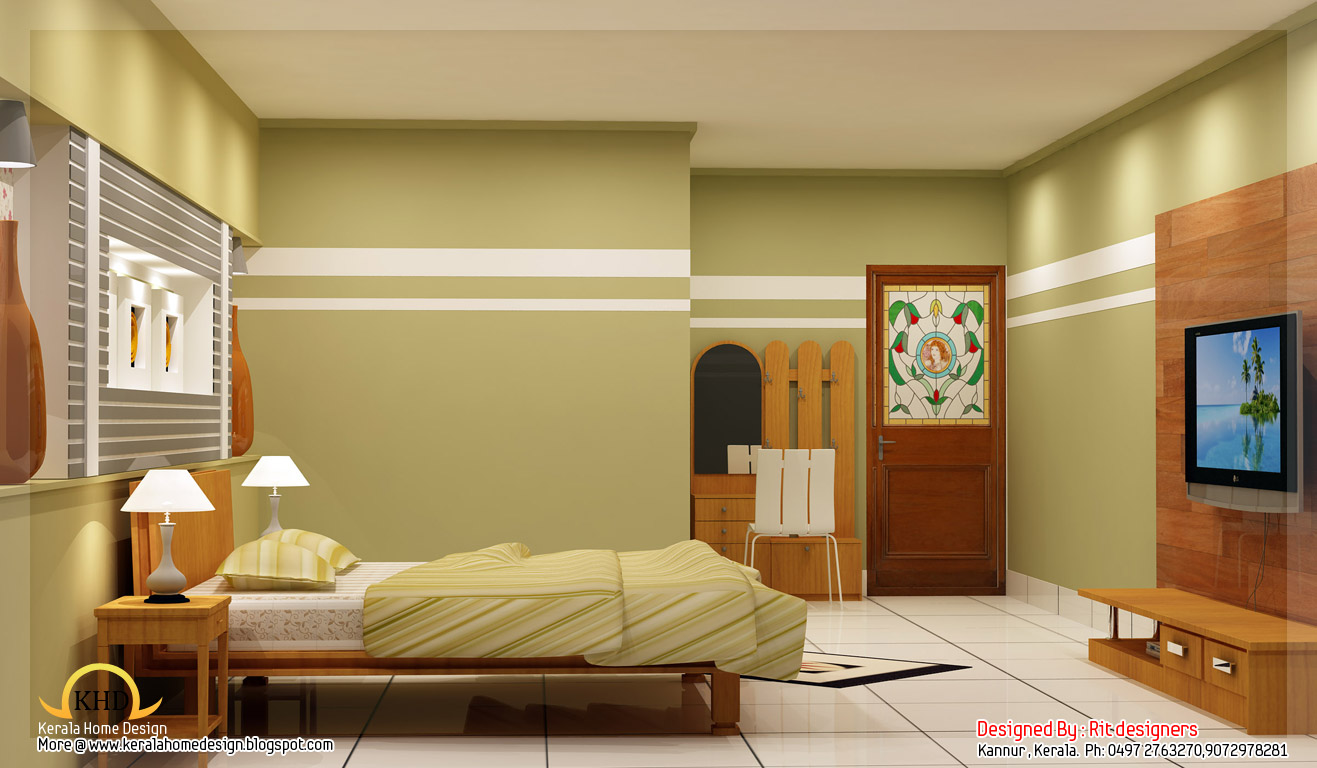Beautiful 3d interior designs kerala home design and for Interior house plans with photos