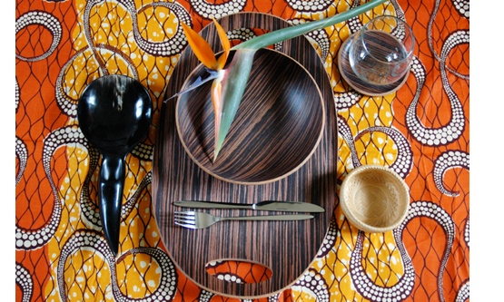 Genial African Print Table Cloth (source)