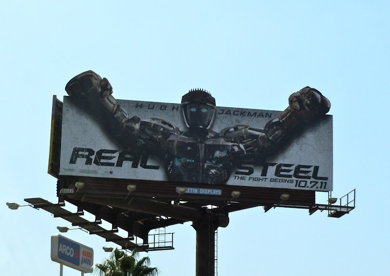 Real Steel Atom robot billboard