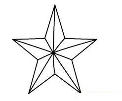 Star Outline Line Drawing Painting Kindergarten Worksheet Guide