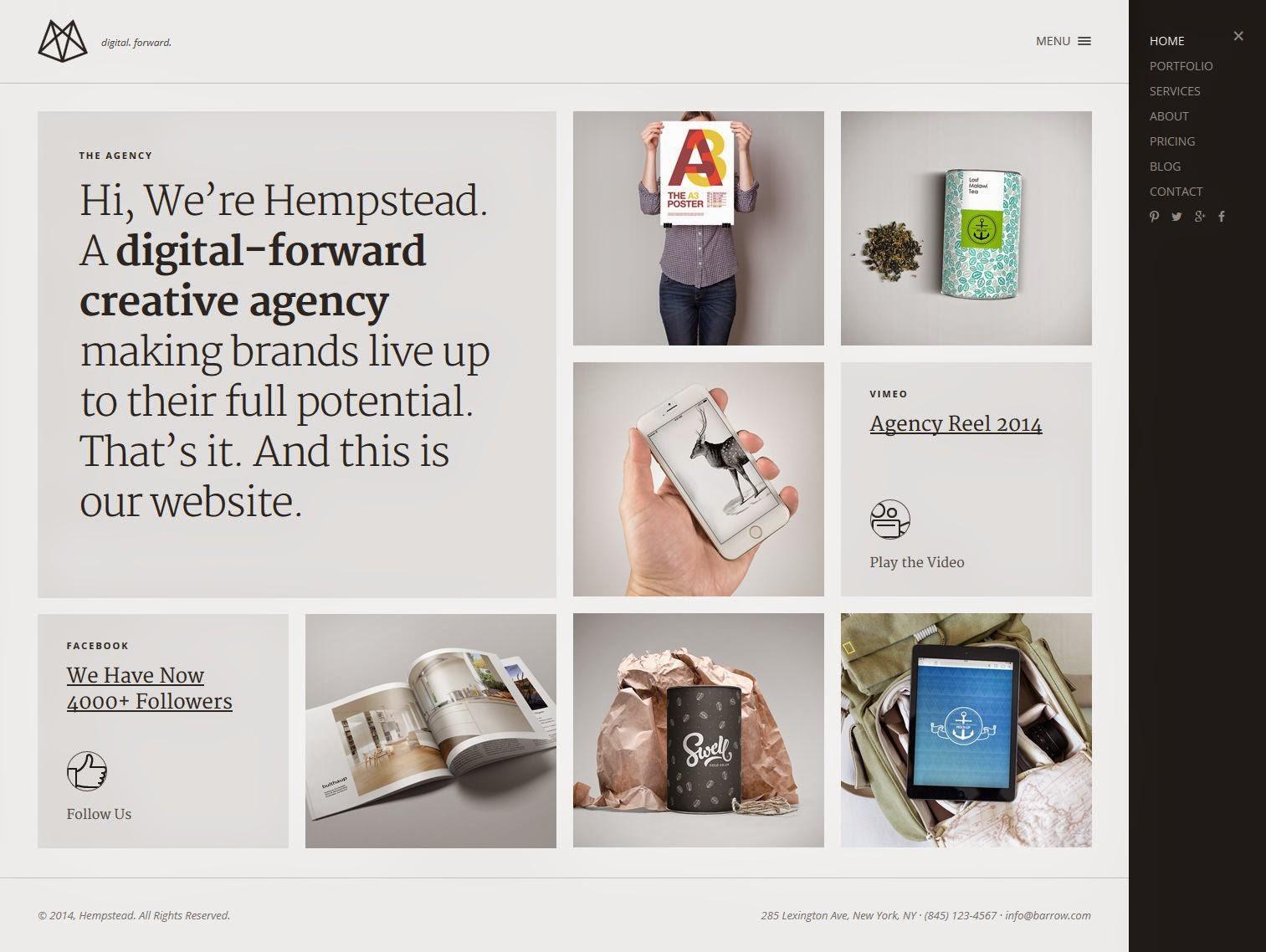 Simple and Clean WordPress Portfolio Theme