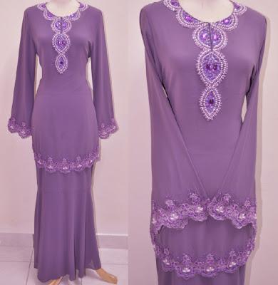 adalah antara contoh koleksi baju kurung moden SaRa dengan sulaman ...