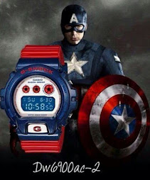 CASIO G-SHOCK DW-6900AC-2DR CAPTAIN AMERICA - BRAND NEW