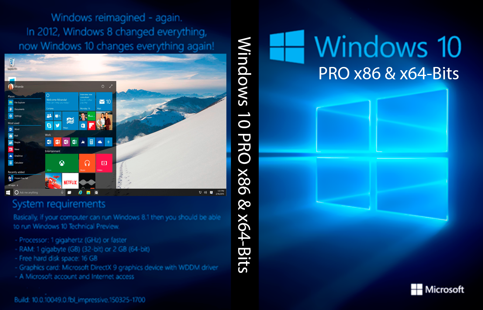 Windows 10 pro x32 e x64 portugues br ativa o torrent for Window 10 pro