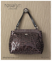Miche Bag Rosalyn Prima Shell, Deep Plum Croc Purse