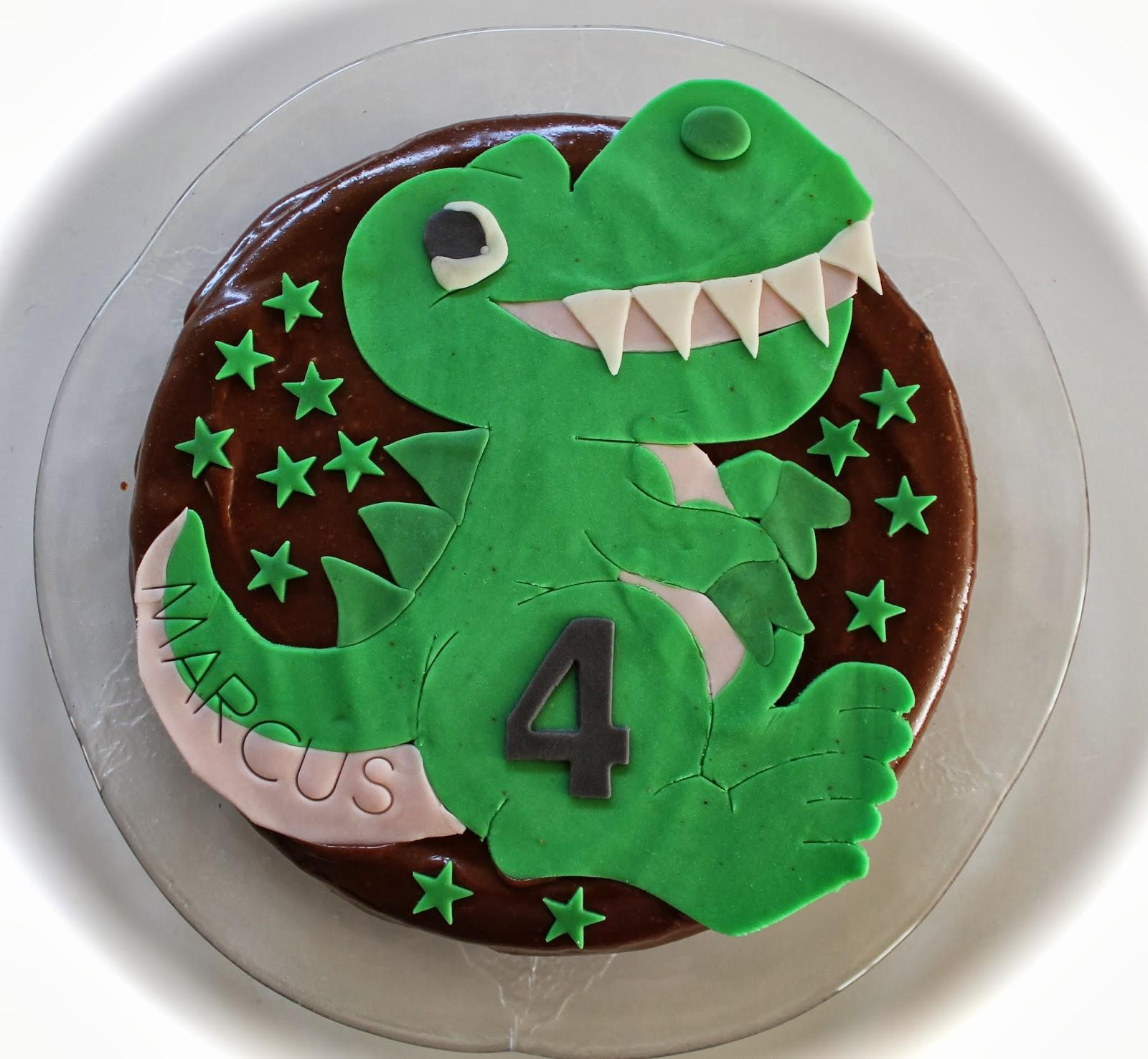 Den Kreative Husmor Dinosaur Kake