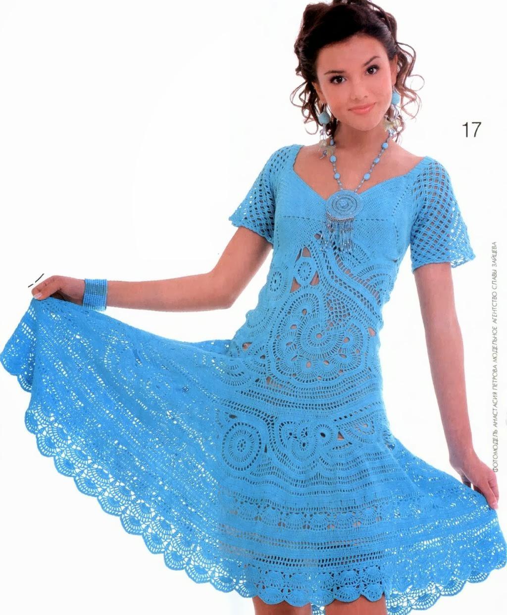 Вязание крючком платье для женщины фото