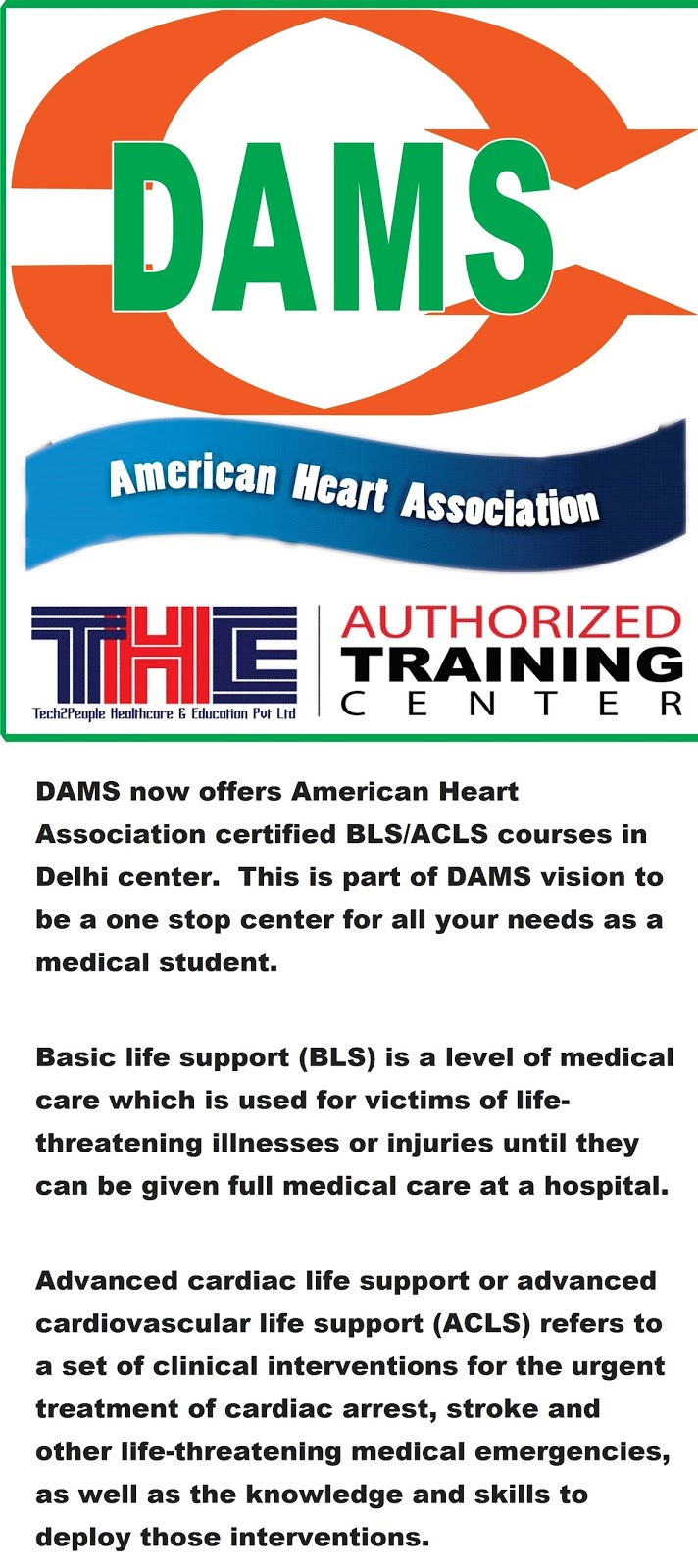 Basic Life Support And Advanced Cardiac Life Support Courses Now