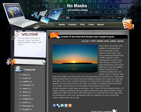 No Masks Blogger Theme