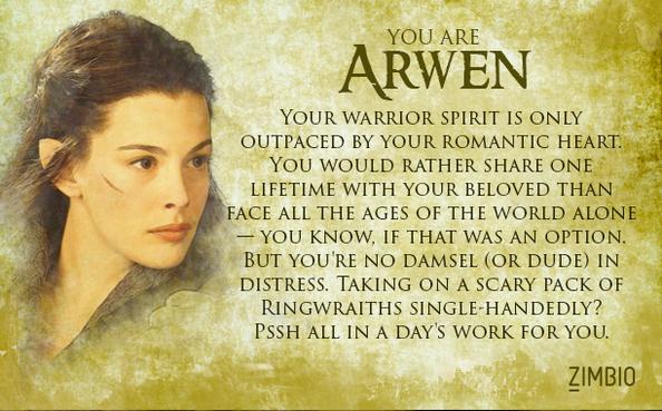 Or am I...Arwen??