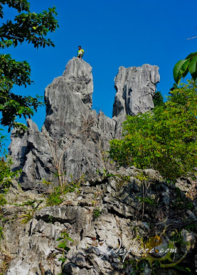 View from below of Mt. Sipit Ulang resembling crab's claw