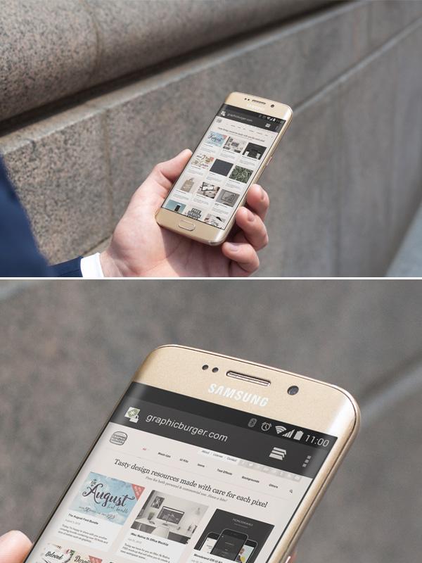 Smartphone & Tablet Mockup PSD Terbaru Gratis - City Street Android Mockup