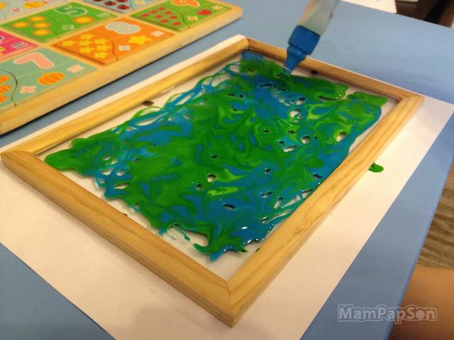 Картина на стекле самодельными витражными красками