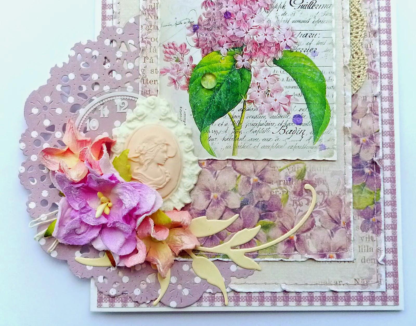 Цветы для скрап открыток
