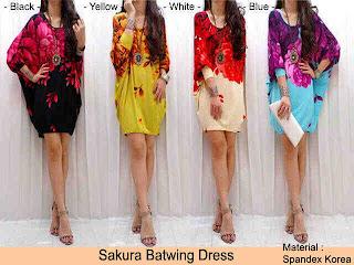 Sakura Batwing Dress fit to XL