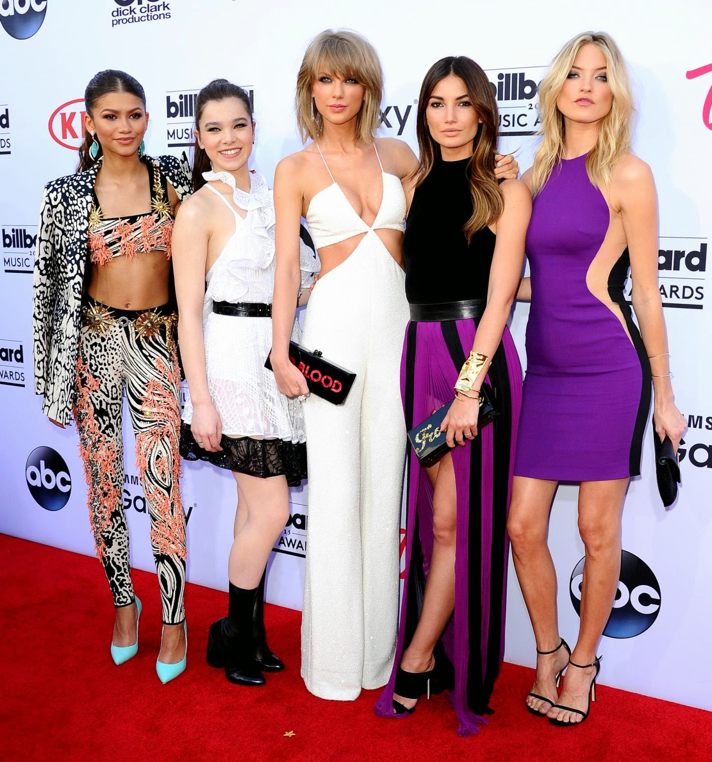 Zendaya Coleman, Taylor Swift, Lily Aldridge and Martha Hunt at 2015 Billboard Music Awards