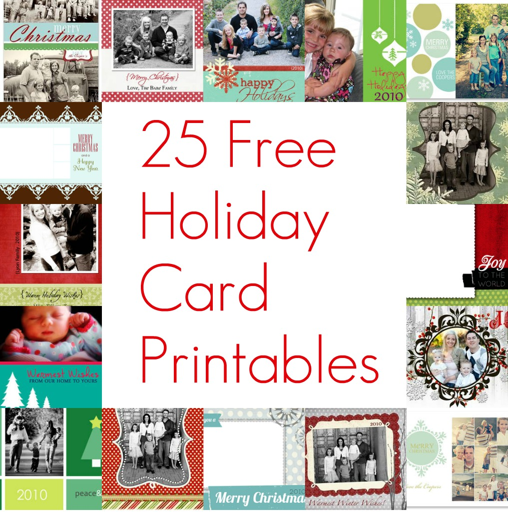 Gorgeous image with free printable photo christmas card templates