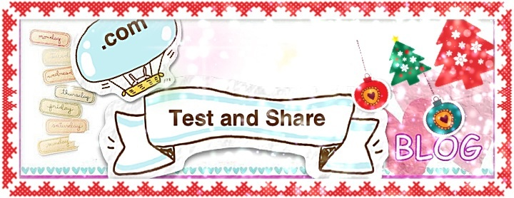 Kim's test and share diary